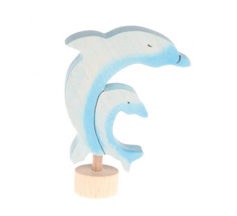 Grimms  Decorative Figure Two Dolphins (4040)