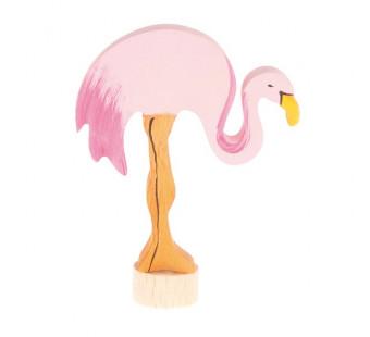 Grimms handbeschilderde steker flamingo (4070)