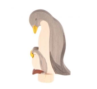 Grimms handbeschilderde steker pinguin (4130)