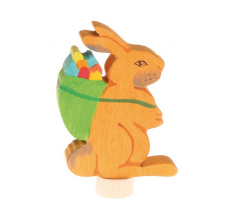 Grimms decorative figurine easter bunny with eggs (4231)