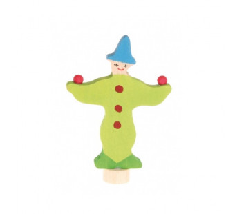 Grimms traditional figure clown green (3390)