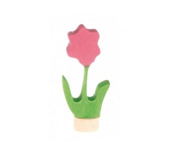 Grimms steker bloem roze (3600)