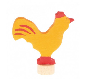 Grimms traditional figurine rooster yellow (3951)