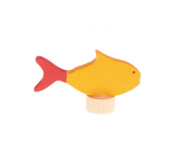 Grimms  traditional figurine fish yellow  (3780)