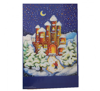 Advent calendar large made by Effi Spalinger - Christmas Castle