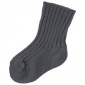 Joha donkergrijze wollen sokken 90% wol.