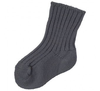 Joha dark grey woolen socks 90% wool