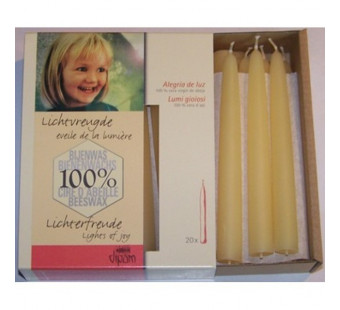Dipam bee wax christmas candles white