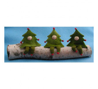 Drie kerstboomboefjes (atelier Pippilotta)