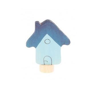 Grimms steker huis blauw  nieuw(3570)