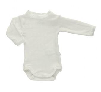 Joha white long sleeved body 85% wool 15% silk