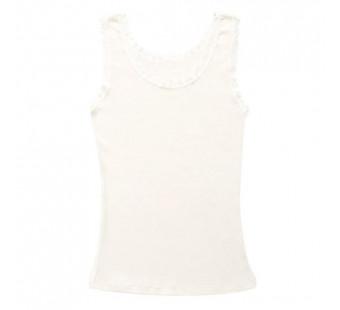 Joha hemd met kant wit merinowol (70401)