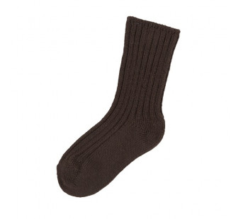 Joha woolen socks 90% wool dark brown