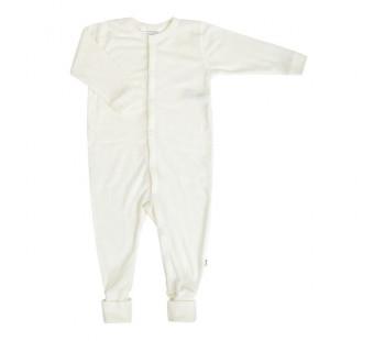 Joha jumpsuit naturel met omslag 100% merinowol (56140)