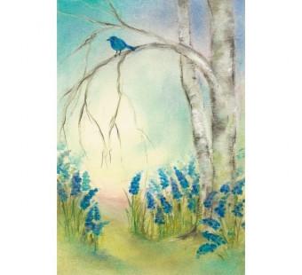 Postkaart Blauwe Druifjes (Baukje Exler)
