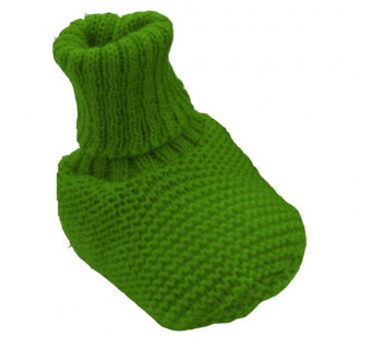 Reiff wollen slofjes groen