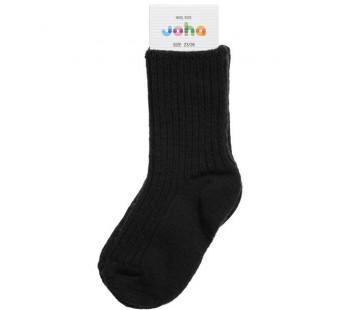 Joha wollen sokken 90% wol zwart (5006) (311)