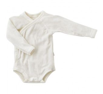 Joha merino woolen wrap around body long sleeved natural (66343)