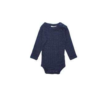 Joha wol/zijde romper lange mouw navy (65518)