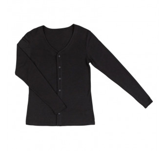 Joha wool silk cardigan black