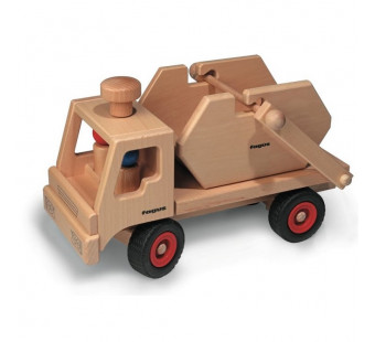 Fagus houten vrachtauto met container 10.44)