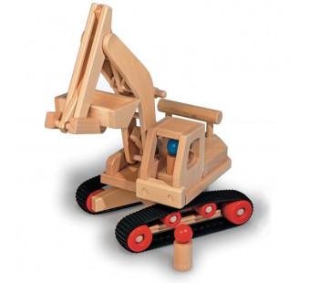 Fagus houten graafmachine  bestuurbaar (10.71)