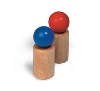 Fagus set van 2 houten poppetjes (20.15)