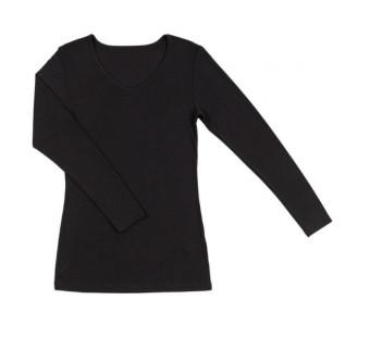 Joha wool silk longsleeve black