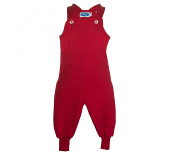 Reiff wool silk terry dungarees Red