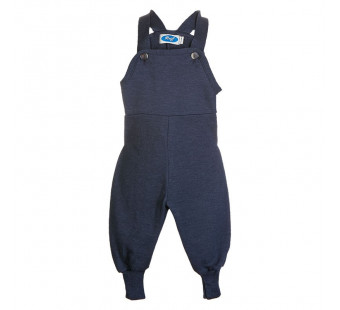 Reiff wool silk terry dungarees Navy