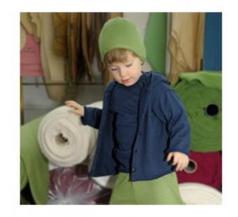 Reiff wol zijde vestje met capuchon van badstofstructuur (terry) navy