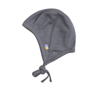 Joha wool silk bonnet grey (63986)
