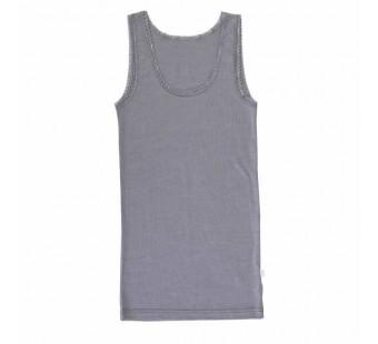 Joha hemd met kant grijs wol/zijde (72244)