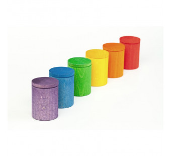 Grapat 6 cups with lid in colour  (16-137)
