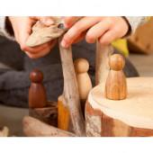 Grapat set van 3 houtkleurige Nins (17-179)