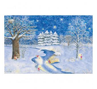 Advent calendar large - Het kleine meisje met de zwafeltokjes (Monika Muller)