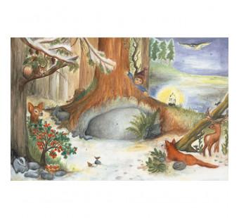 Advent calendar large made by Effi Spalinger - Christmas Catle