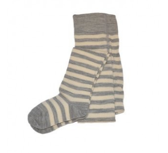 Grodo woolen stockings grey striped