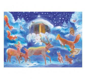 Adventskalender klein  Weihnachten mit dem Tieren (Dorothea Schmidt)