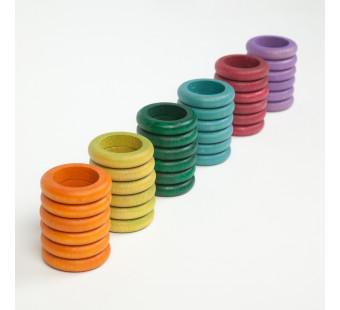 Grapat set van 36 ringen in herfstkleuren (16-157)