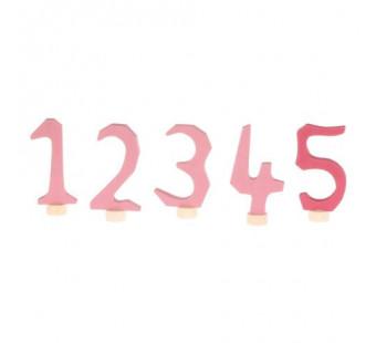 Grimms decorative numbers set 1-5 pink (4401)