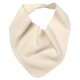 Reiff wool silk terry bib Natural