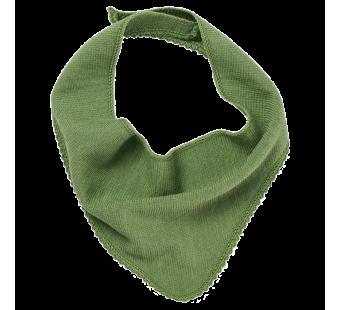 Reiff wool silk terry bib green