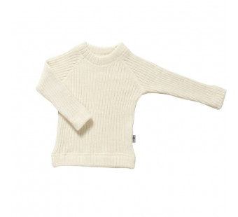 Joha woolen knitted sweater natural (16590)